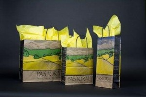 PASTORIAL RECYCLED KRAFT CUSTOM SHOPPING BAGS