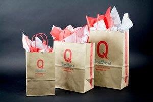 Q BROTHERS KRAFT CUSTOM SHOPPING BAGS