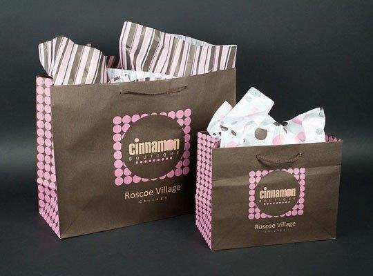 Custom Printed Eurototes for Cinnamon Boutique