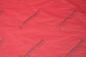 custom tissue paper COOPERS HAWK RED TISSUE