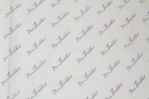 custom tissue paper MRS PRINDLES WHITE TISSUE