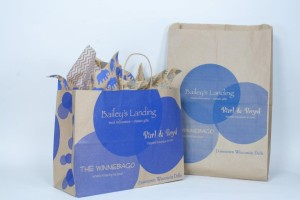Custom Printed Recycled Paper Bags Bailey's Landing