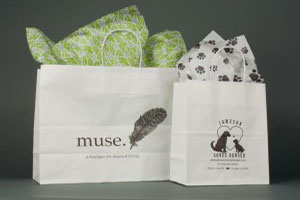 custom printed recycled shopping bags muse
